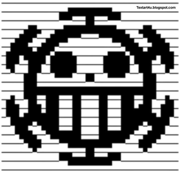 One Piece Heart Pirates ASCII Art | Copy Paste | Cool ...Text Art Symbols Copy And Paste