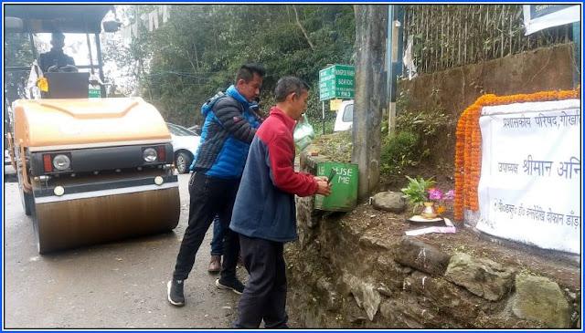PWD bunglow nalidara to Dokan dara Rungbee road repairing