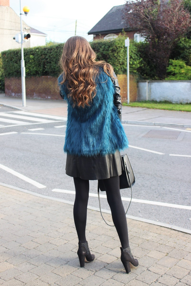 streetfashion, streetstyle, how to wear fur vest