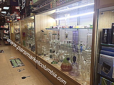Waterpipe and Glass Pipes Display at Howard County Columbia Maryland 21045