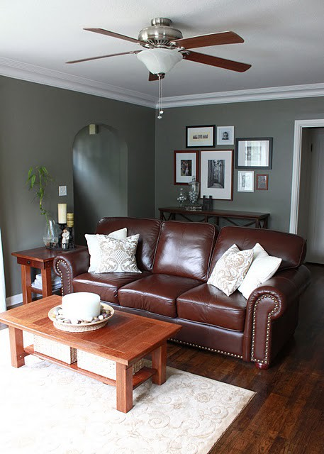 Best Wall Color With Brown Leather Furniture