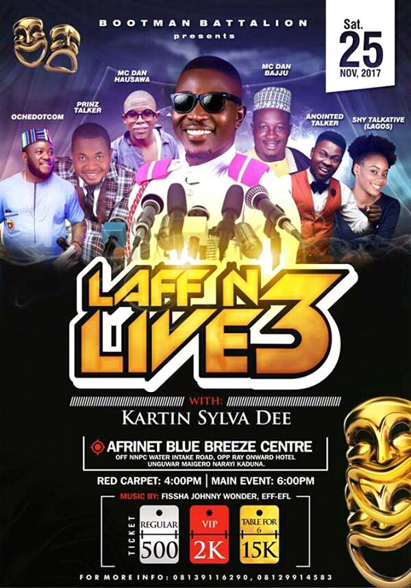 Event: Laff N Live 3 With Kaptain Sylva Dee
