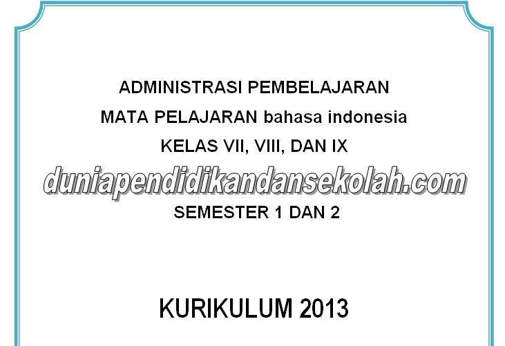 Download Silabus Rpp Skl Ki Kd Prosem Prota Bahasa Indonesia Kelas Vii 7 Viii 8 Dan Ix
