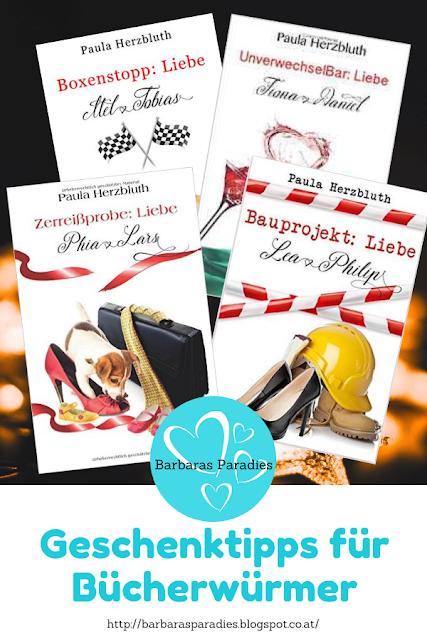 Geschenktipps für Bücherwürmer - Doppelpunkt Liebe-Reihe von Paula Herzbluth