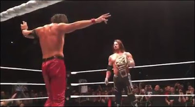AJ Styles and Shinsuke Nakamura in Florence, Italy on November 12th 2017