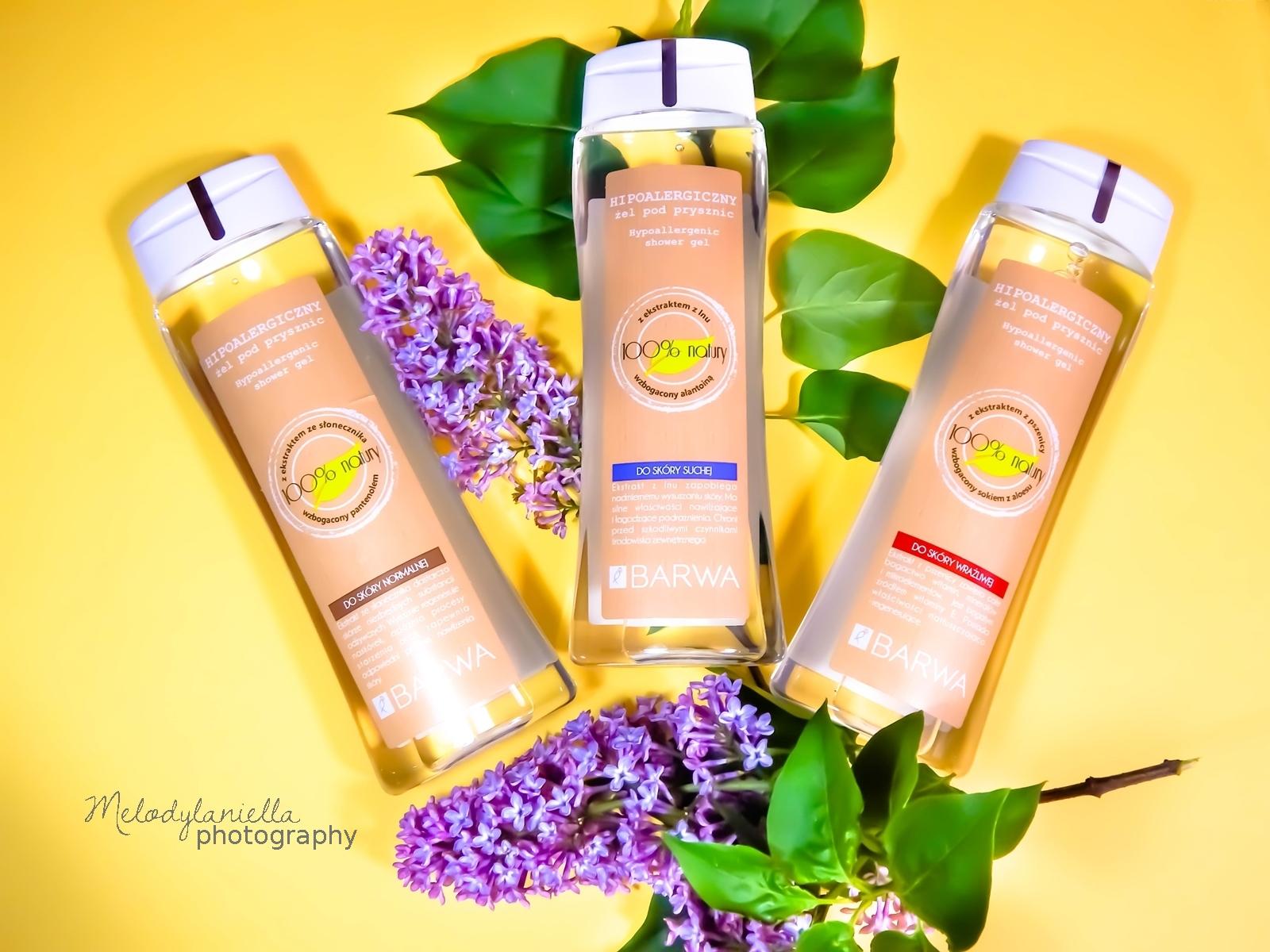 barwa żele żel pod prysznic żel do skóry suchej do skóry normalnej do skóry wrażliwej sto procent natury naturalne kosmetyki pod prysznic uroda kosmetyki