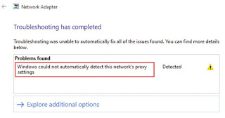 Cara Mengatasi Windows Could not Automatically Detect Networks Proxy Settings di Windows 10