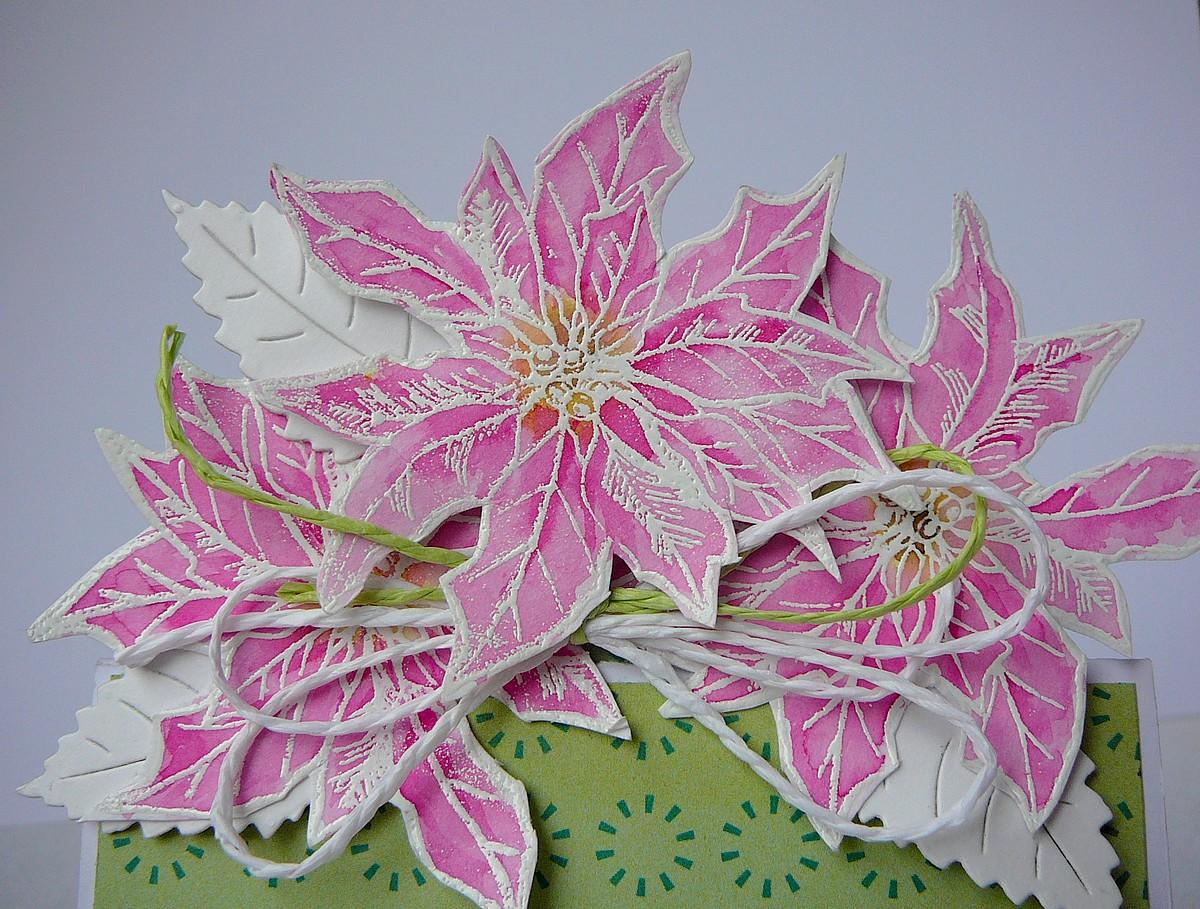 kartka z kwiatami w doniczce