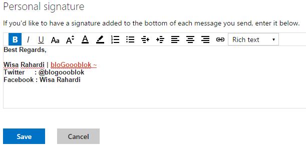 Cara Membuat Signature Pada Gmail Yahoo Dan Outlook