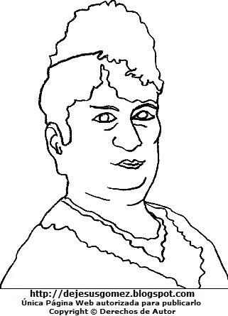 Imagen de Antonia Moreno de Cáceres para colorear pintar imprimir recortar y pegar. Dibujo de Antonia Moreno de Cáceres por Jesus Gómez