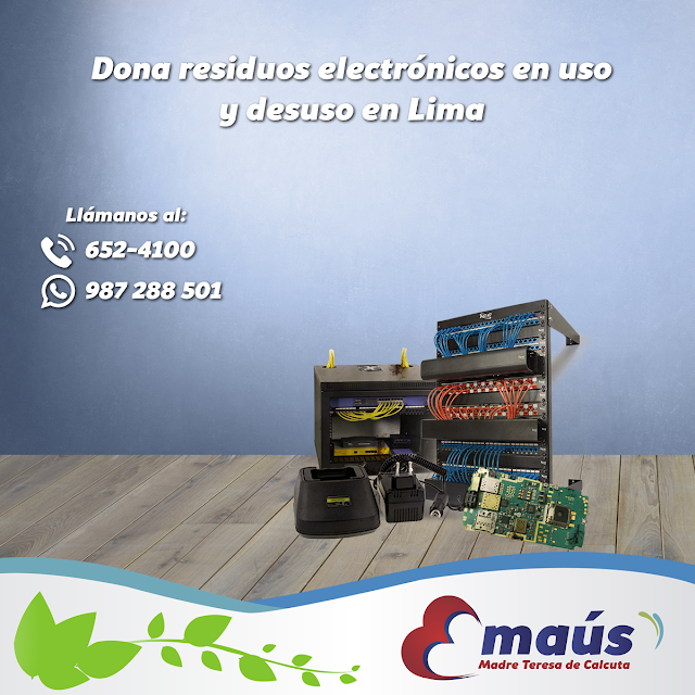 Dona residuos electrónicos en uso y desuso en Lima