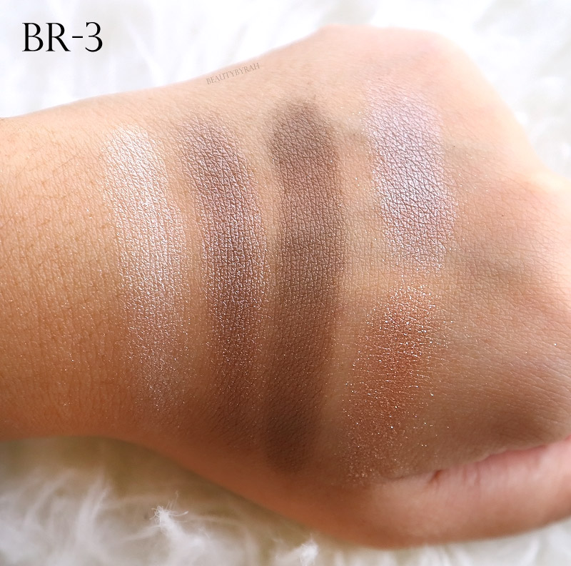 Kate Tokyo Metal Glamour Eyes Review and Swatches BR-3