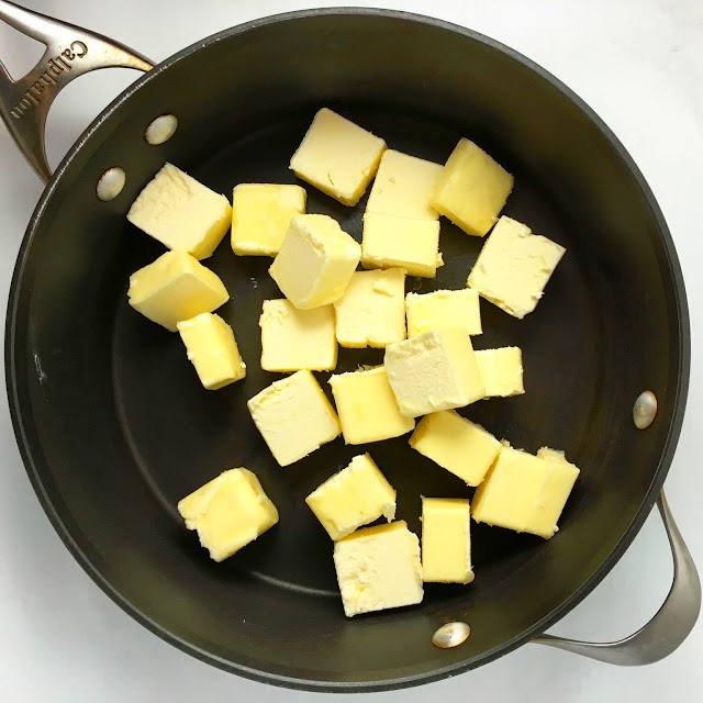 Large Pot with Cubes of Butter for Butter Toffee
