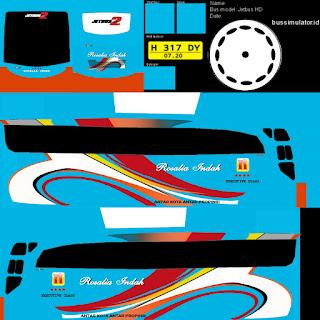 Download Livery Bus Rosalia Indah Biru