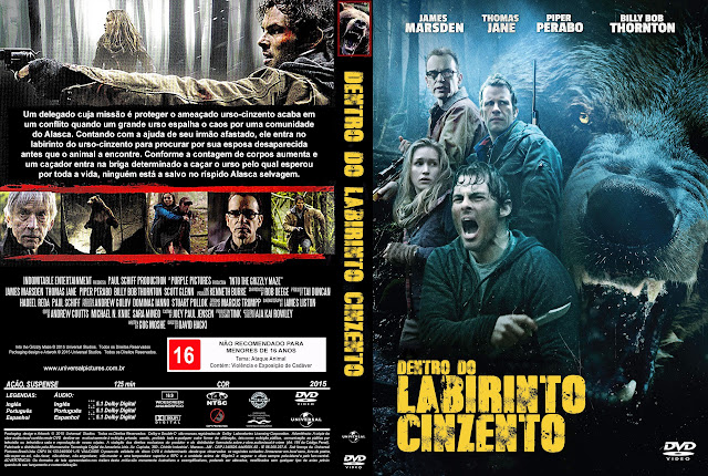 Capa DVD Dentro Do Labirinto Cinzento