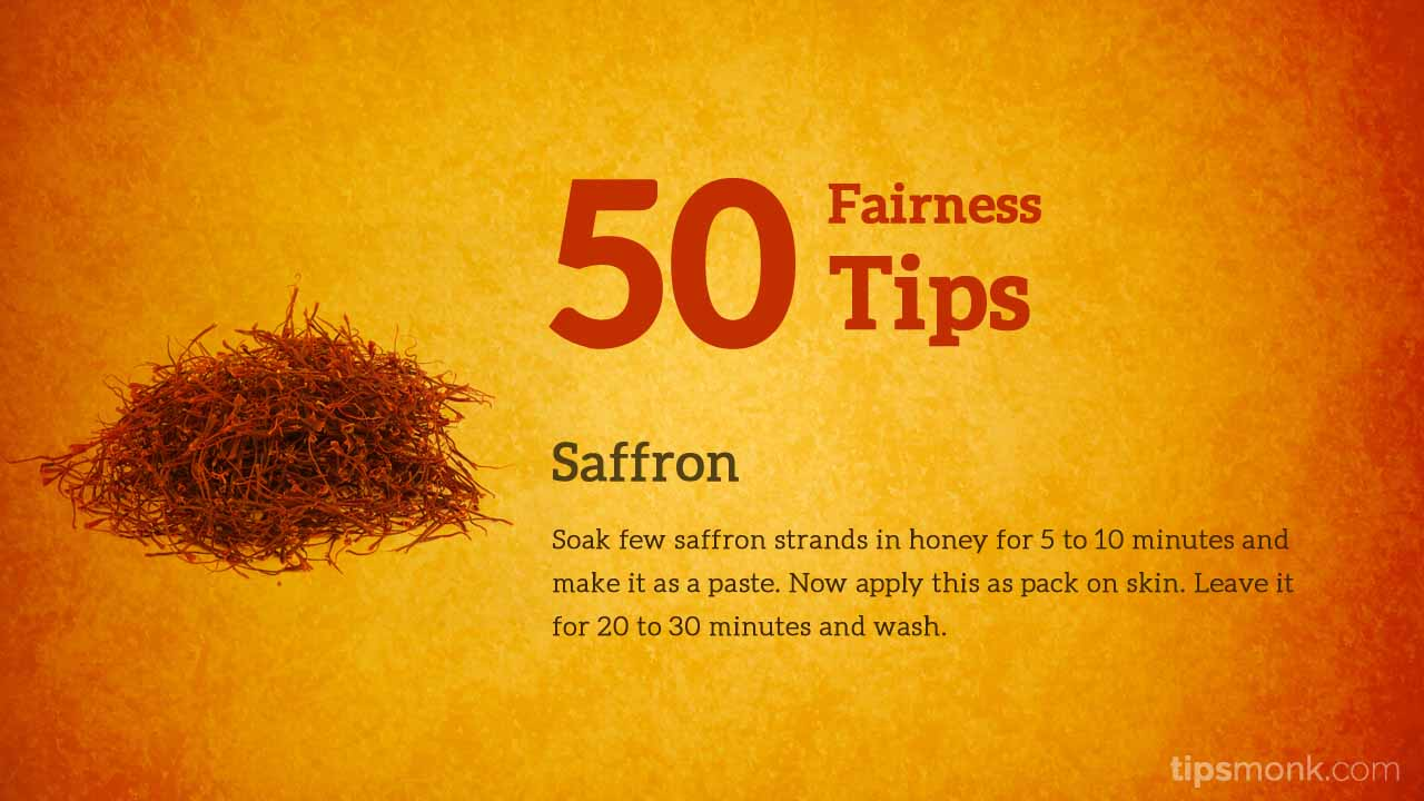 Amazing fairness tips for fair skin with saffron