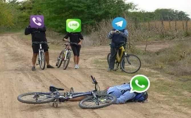 Mensajes, caída, celular