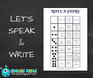 Roll a Story speaking writing