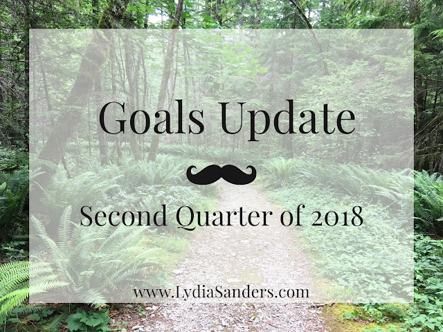Goals Update - Second Quarter of 2018 | Lydia Sanders