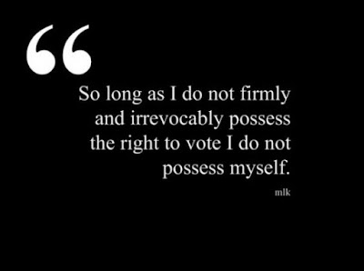 Quote by Martin Luther King on the right to vote