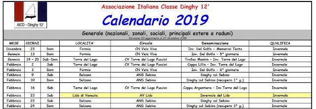 Apri Il Calendario.Dinghy12piedi Flottaromana Calendario 2019 E Bandi