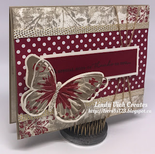 Linda Vich Creates: Stamping Mistake? Learn How I Fixed Rather Than Trashed This Card! Textural card created with Butterflies Thinlits.