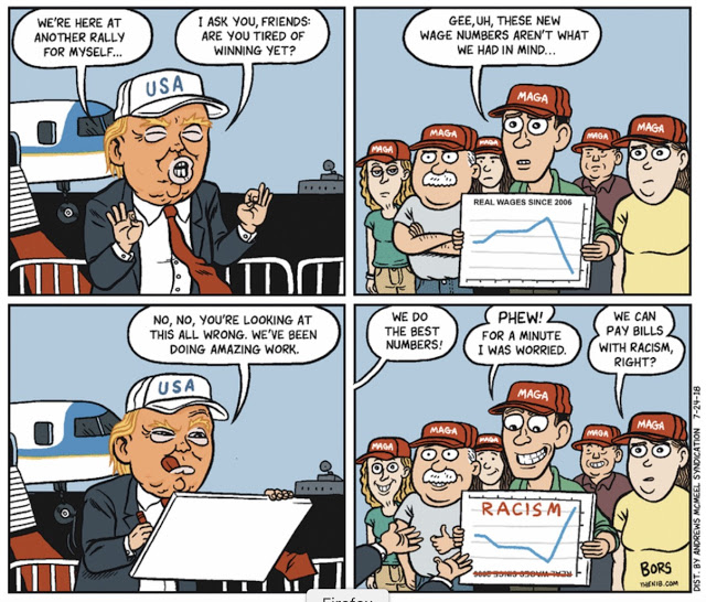 Frame One:  Donald Trump says,