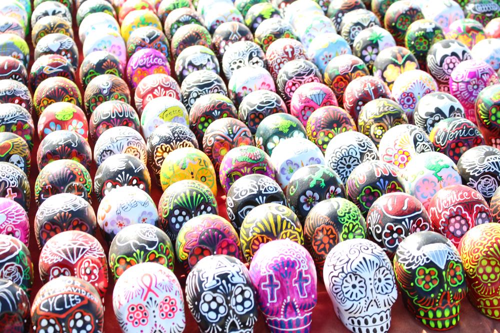 Skulls at Venice Beach, LA - weekend in Los Angeles, travel blog