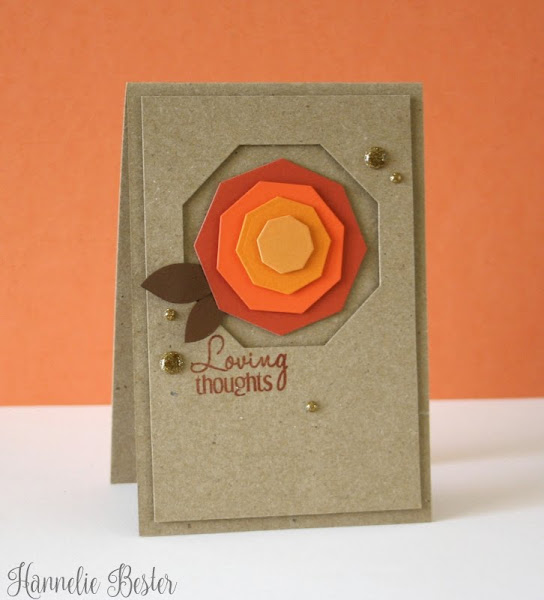 Autumn octagon rose card