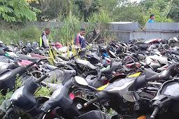 Satlantas Mimika Berencana Lelang Barang Bukti Sepeda Motor