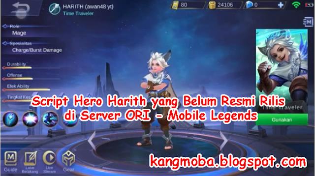 Download Script Hero Harith yang Belum Resmi Rilis di Server ORI - Mobile Legends