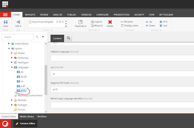 Sitecore - Content Editor - Languages