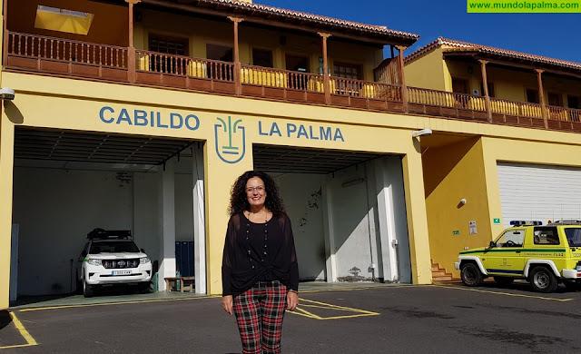 La consejera de Seguridad y Emergencias valora la respuesta del Cabildo de La Palma ante la situación de alerta