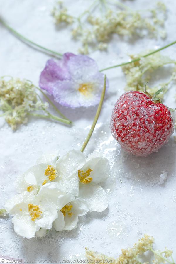 wiosenna babka z syropem z kwiatów bzu czarnego i lukrem