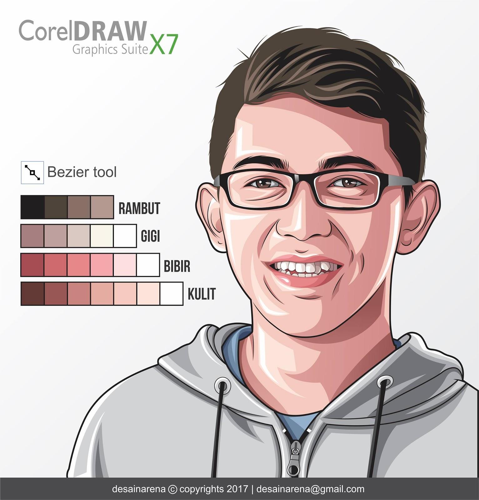 Palet Warna Kulit Bibir dan Rambut  Untuk Vector  dan Vexel