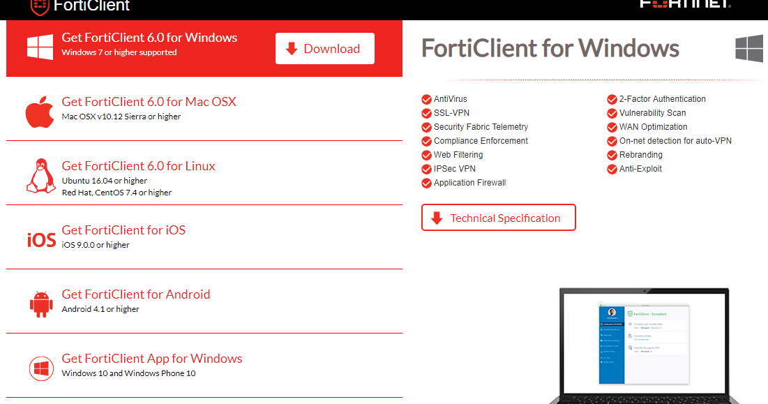 Free Fortinet Forticlient Endpoint Protection