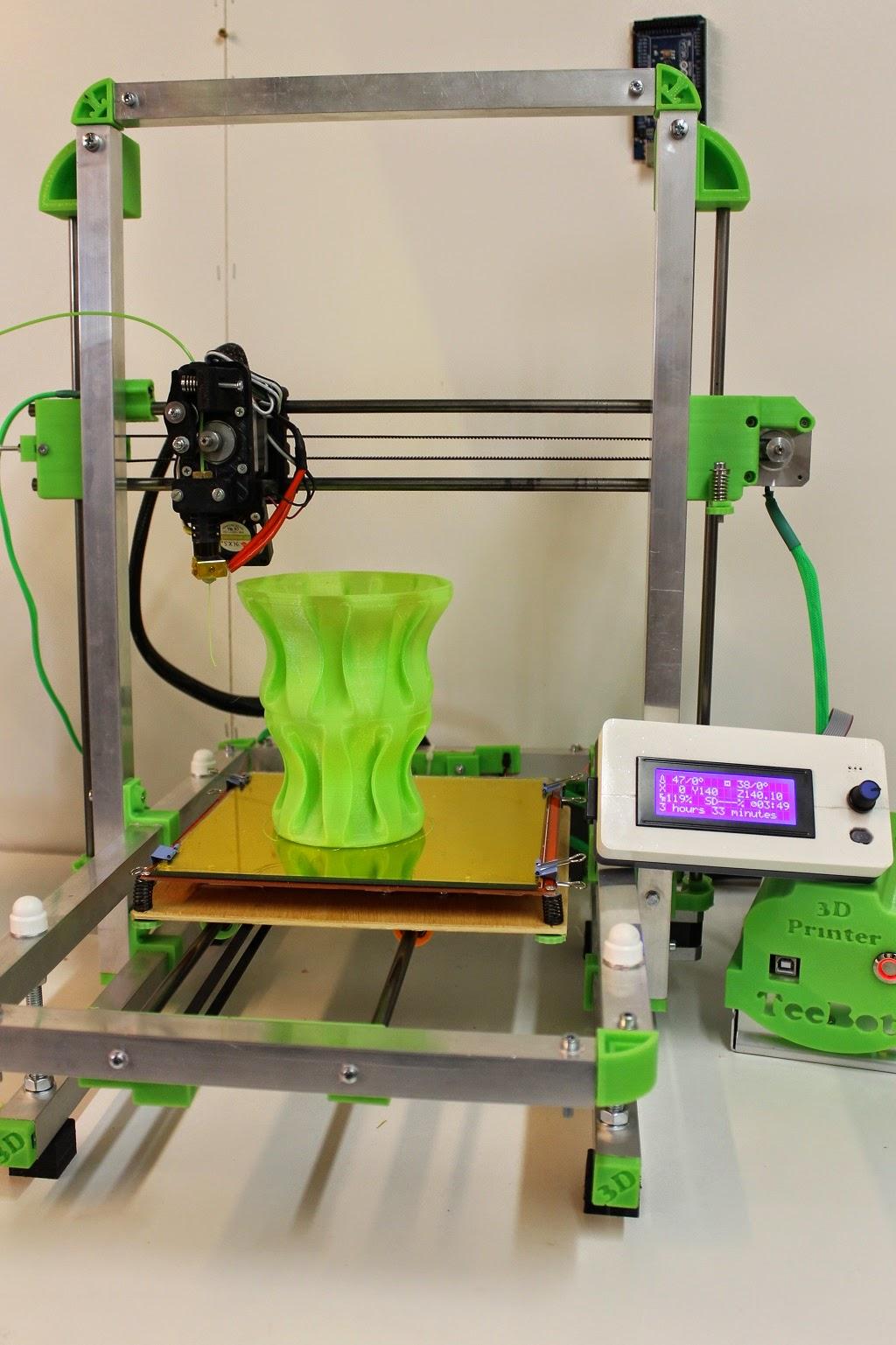 DIY 3D Printing: TeeBotMax Open Source Folding 3d Printer