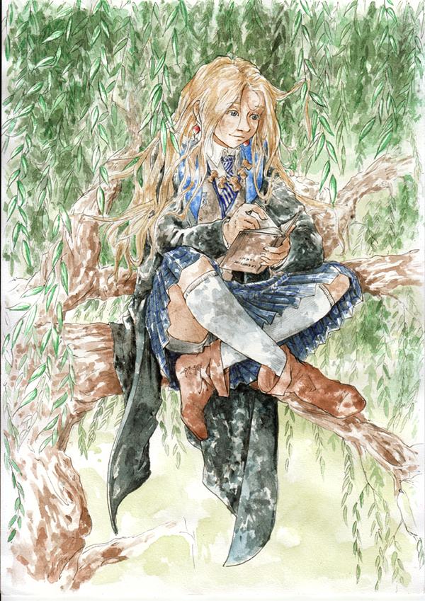 Fanart Luna dans les saules - Harry Potter