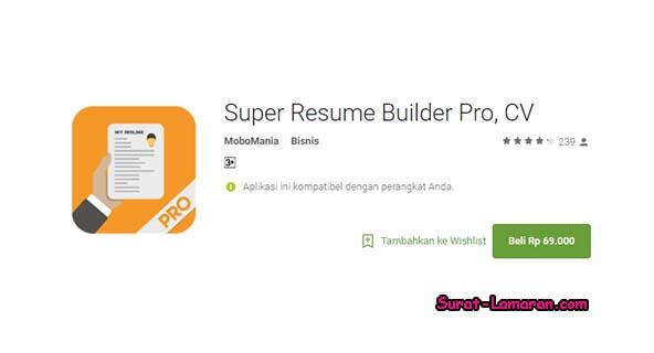 download aplikasi resume builder pro
