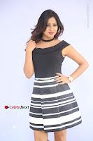 Actress Mi Rathod Pos Black Short Dress at Howrah Bridge Movie Press Meet  0046.JPG