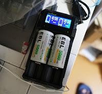 EBL単2充電池 と コンパクトな充電器 KEYNICE