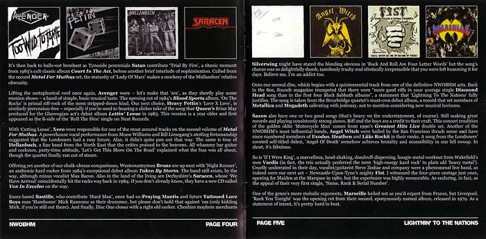 VA - Lightning To The Nations; NWOBHM 25th Anniversary Collection (CD 2) booklet
