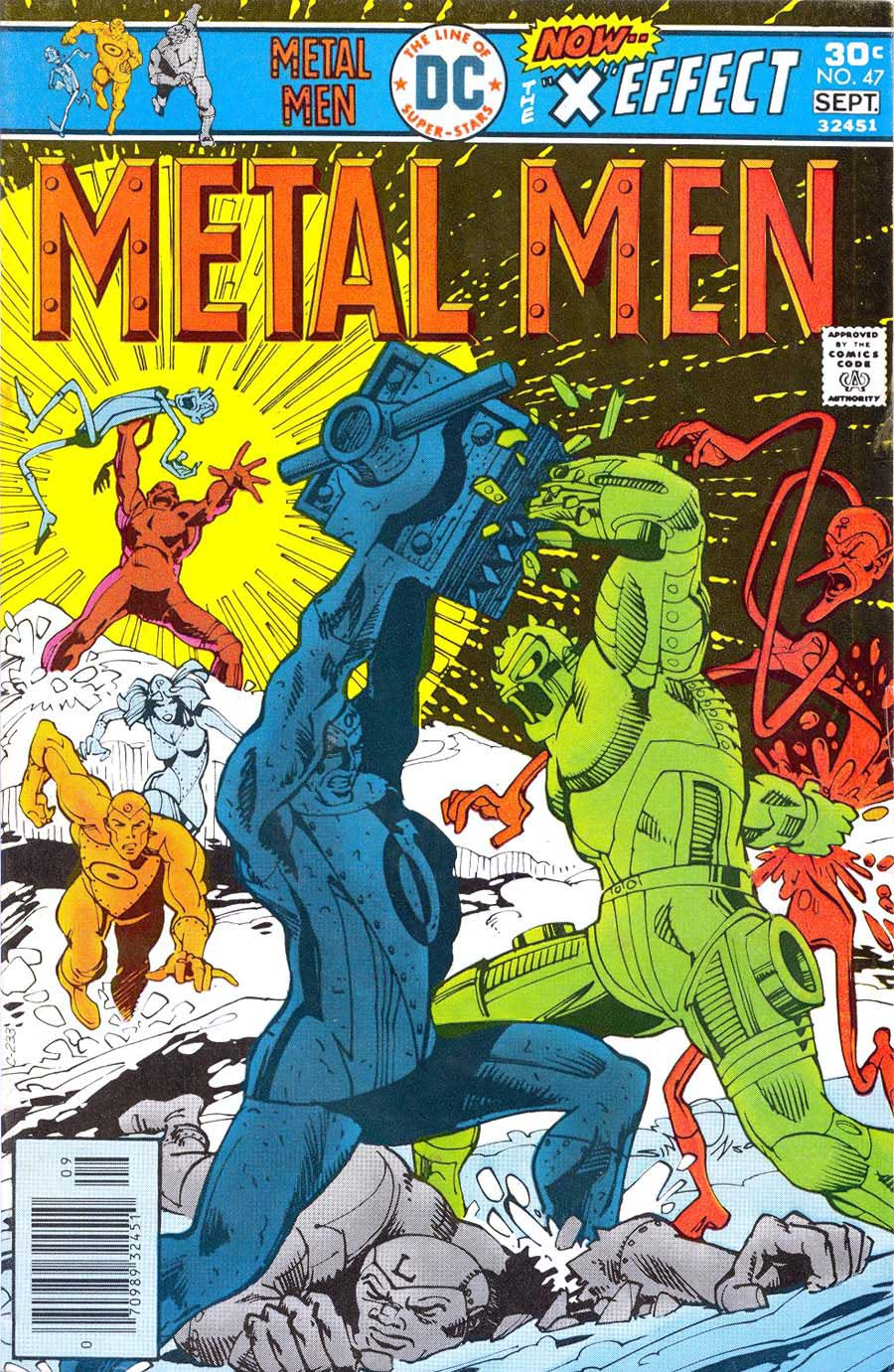 Metal Men v1 #47 dc 1970s bronze age comic book cover art by Walt Simonson