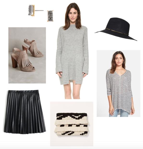 8e8bc0b7e39 Pre-Fall Pretties · Meteorite Bar Earrings + Sweater Dress + Fedora Hat