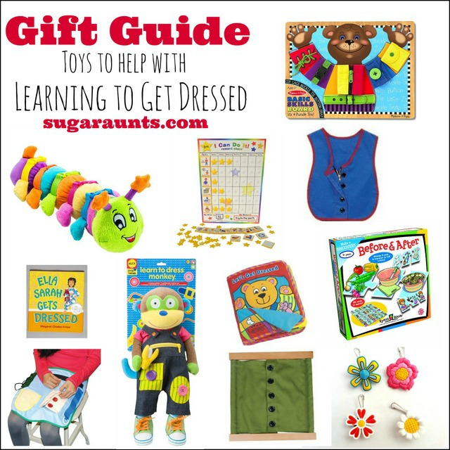 gift guide toys for helping kids to learn to dress themselves independently