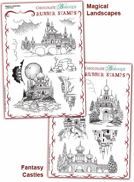 http://www.chocolatebaroque.com/Magical-LandscapesFantasy-Castles-Unmounted-Rubber-stamps-Multi-buy--A5-_p_5875.html