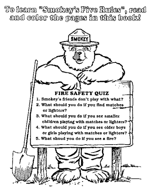 smokey the bear coloring pages - photo#21