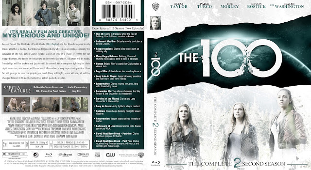 The 100 Season 2 Bluray Cover