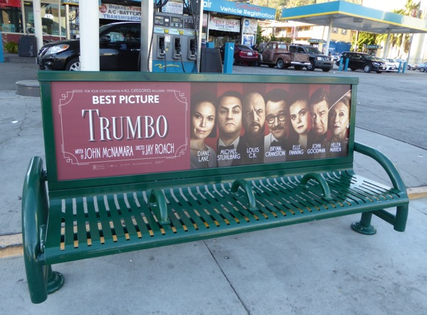 Trumbo movie bench ad