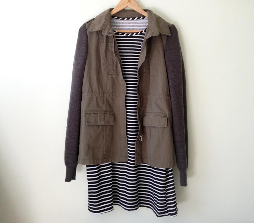 Elm knitwear khaki jacket